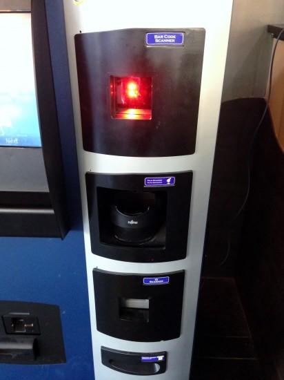 거래를 위한 여러가지 스캐너, 바코드 스캐너, 손바닥 스캐너, ID 스캐너